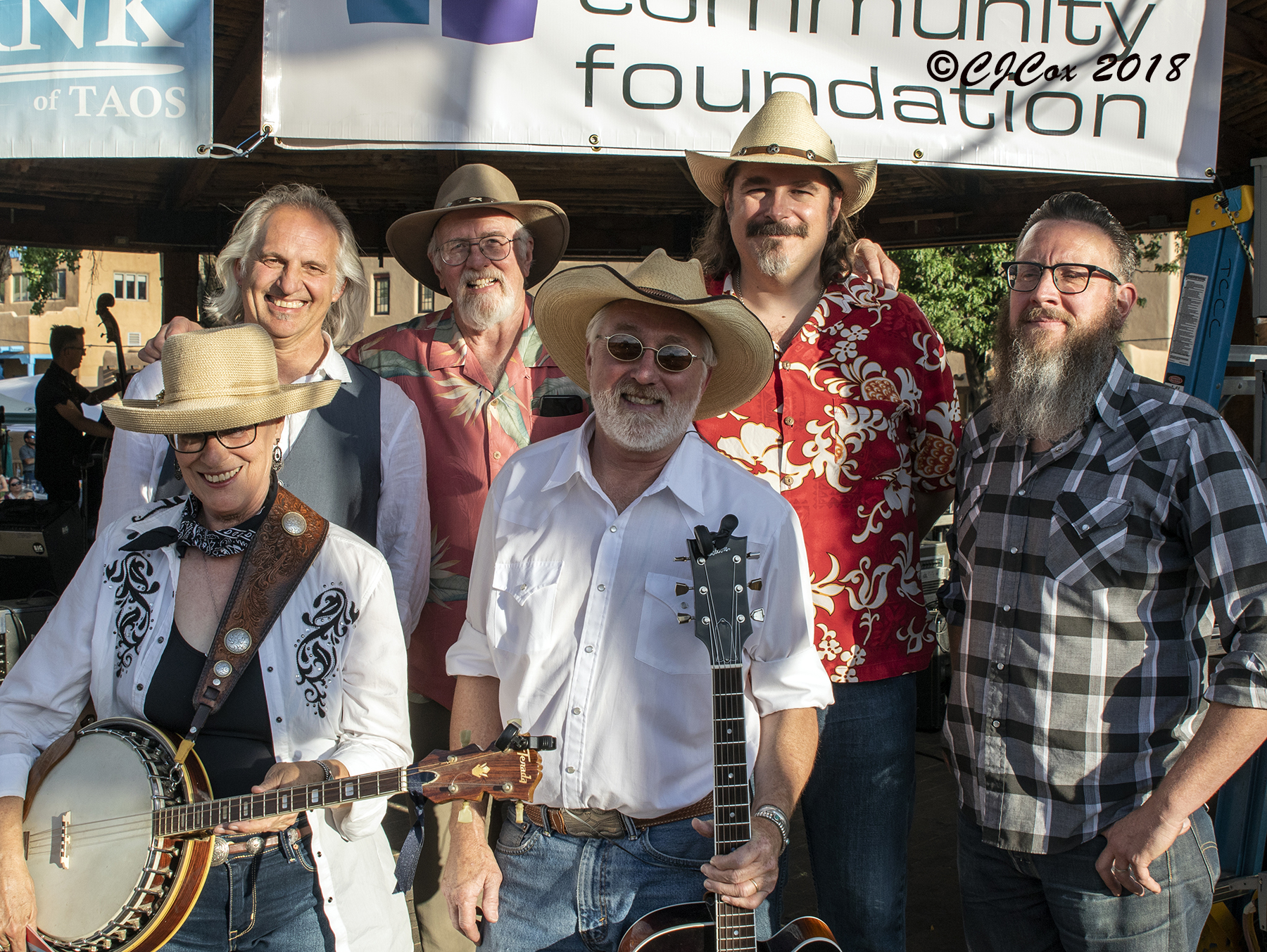 The Swing Dusters, Taos County Chamber of Commerce Taos Plaza Live, June 28, 2018, Photo by CJ Cox
